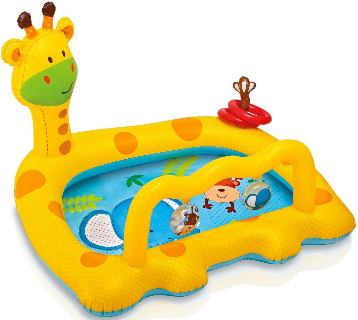 Надувной бассейн Intex Улыбающийся жираф, 112 х 91 х 72 см. с57105с57105надувной бассейн для детей улыбающийся жираф 112х91х72см