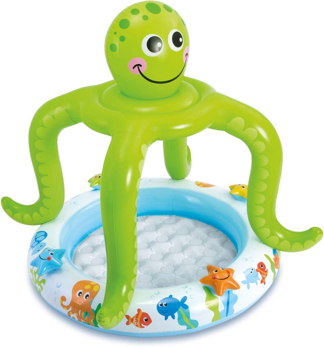 Надувной бассейн Intex Осьминог, 102 х 104 см, 1-3 года. с57115с57115надувной бассейн для детей осьминог 102х104см 1-3лет