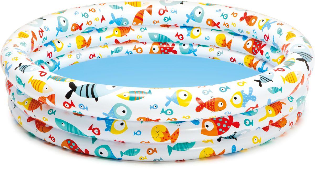 Надувной бассейн Intex Подводный мир, 132 х 28 см, от 3 лет. с59431с59431надувной бассейн подвод.мир 132х28см от 3лет