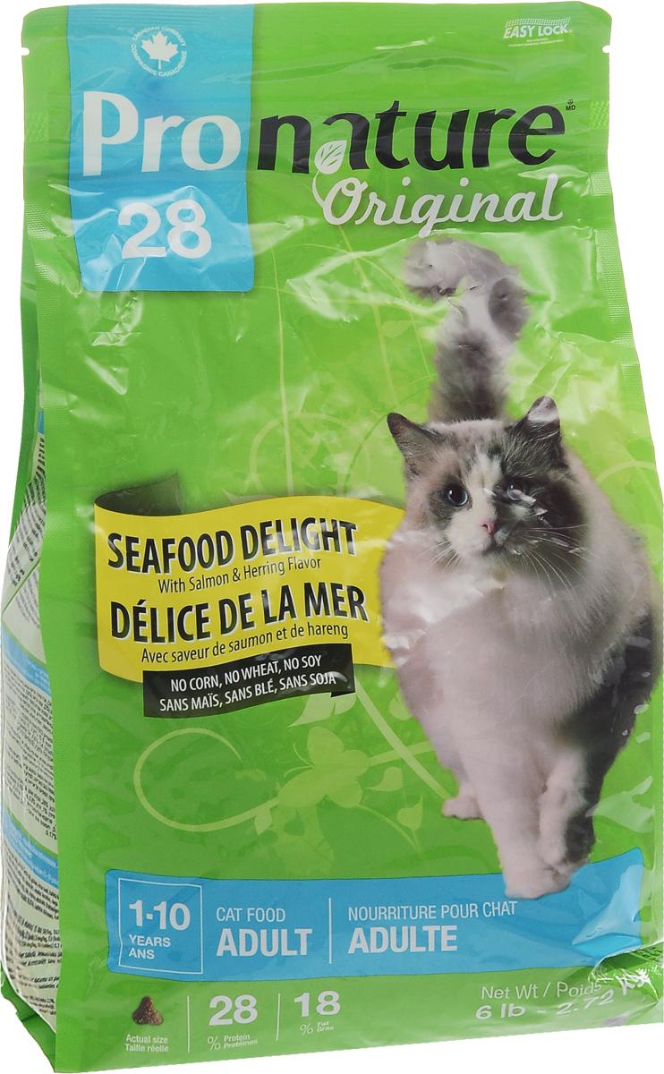 Корм сухой Pronature Original 28. Океан удовольствия, для кошек, с цыпленком и морепродуктами, 2,72 кг102.418Корм сухой Pronature Original 28. Океан удовольствия - это сбалансированный полнорационный корм для кошек, который содержит только натуральные ингредиенты высшего качества. Натуральные источники пребиотиков, содержащиеся в корме, способствуют росту нормальной кишечной микрофлоры, укрепляют иммунитет и помогают организму бороться с болезнетворными бактериями. Низкое содержание магния и сушенная клюква обеспечивают профилактику мочекаменной болезни. Содержит уникальный набор целебных трав, признанных своими терапевтическими свойствами. Корм имеет эффектный внешний вид и великолепный вкус. Не содержит красителей, искусственных ароматизаторов, сои, свинины, говядины, субпродуктов (мясокостной муки), ГМО, пшеницы и кукурузы. Товар сертифицирован.