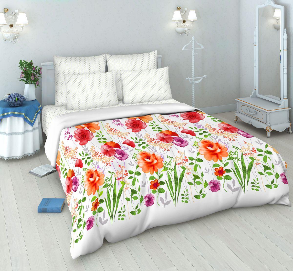 Комплект белья Василиса, 1,5-спальный, наволочки 70х70, цвет: белый. 7023/1,57023/1,5Постельное белье ТМ «Василиса» производится из высококачественной бязи, 100% хлопок. Использование особо тонкой пряжи делает ткань мягче на ощупь, обеспечивает легкое глажение и позволяет передать всю насыщенность цветовой гаммы. Благодаря более плотному переплетению нитей и использованию высококачественных импортных красителей постельное белье «Василиса» выдерживает до 70 стирок. На ткани не образуются катышки. Способ застегивания наволочки - клапан, пододеяльника - отверстие без застежки по краю изделия с подвернутым краем.