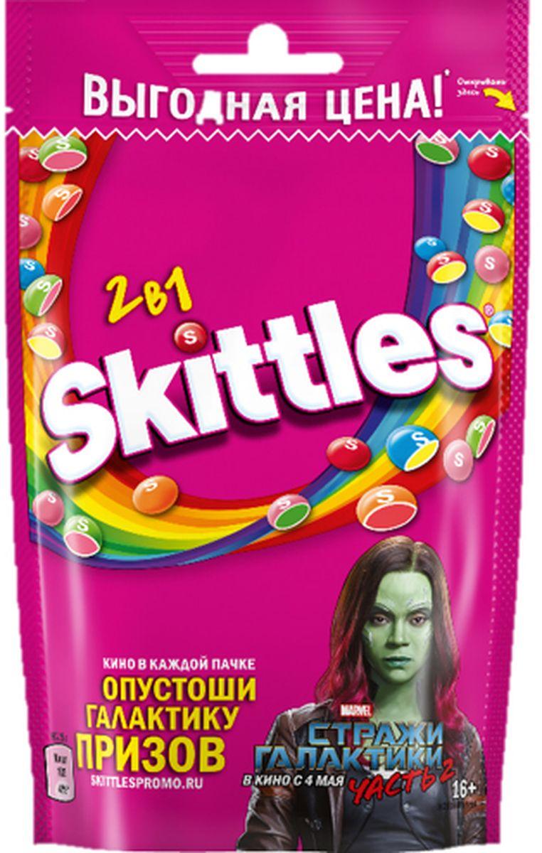 """Skittles """"2 в 1"""" драже в сахарной глазури, 100 г 4009900481076"""