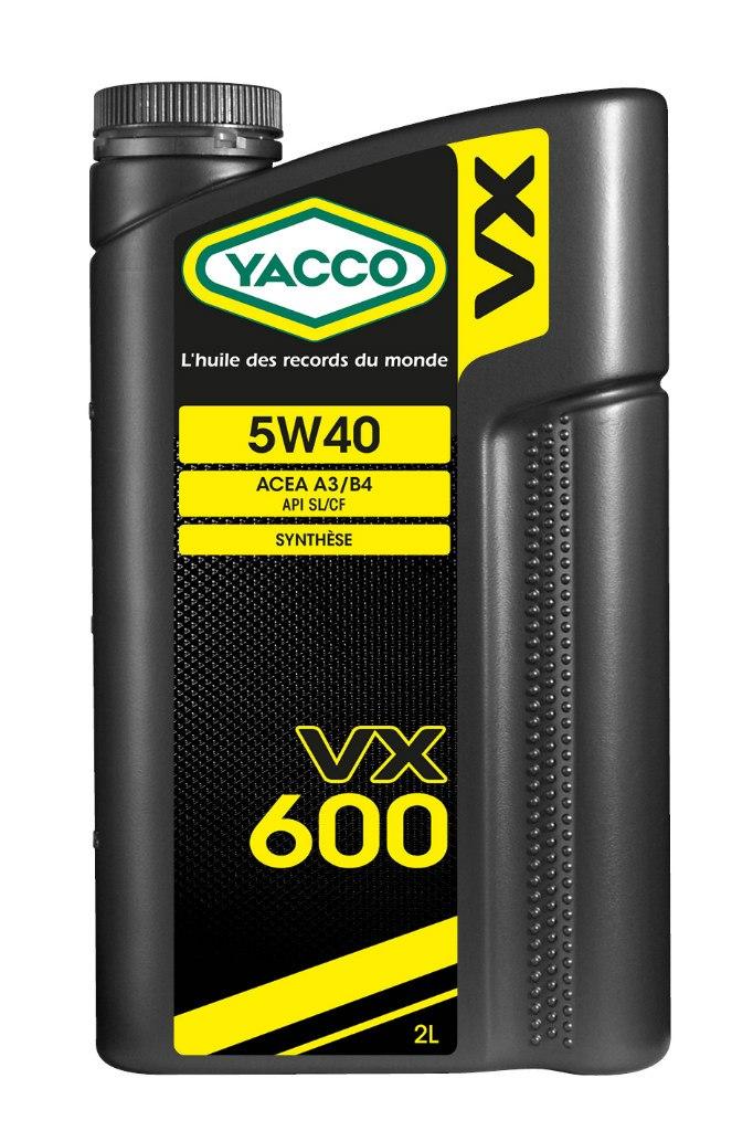 Масло моторное Yacco VX 600 5W40, 2 л302924ПРИМЕНЕНИЕ: Высокопроизводительное синтетическое масло для применения в бензиновых и дизельных двигателях Специально разработано и особо рекомендовано к применению в бензиновых (в особенности многоклапанных) и дизельных (в особенности турбированных системы Common Rail) двигателях. Оптимально подходит для автомобилей, требующих дополнительной защиты от износа и использующихся как в частых коротких поездках в городских условиях, так и в дальних поездках на высоких скоростях. Обеспечивает легкий пуск двигателя при сверхнизких температурах и надежную защиту от износа при высоких. Значительно превышает эксплуатационные требования норм ACEA A3/B4 и API SL/CF. ПРЕИМУЩЕСТВА: • Повышенная термическая устойчивость предотвращает образование отложений • Превосходные моющие и диспергирующие свойства • Оптимальное смазывание и защита узлов двигателя во всех температурных режимах • Особый пакет противоизносных и противозадирных присадок снижает трение и износ двигателя СПЕЦИФИКАЦИИ И ОДОБРЕНИЯ:...