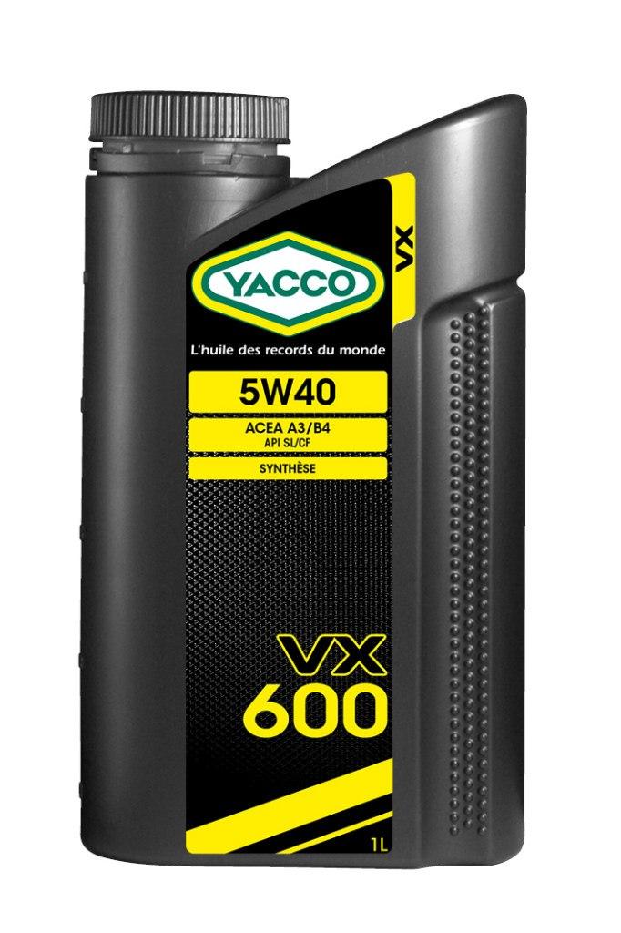 Масло моторное Yacco VX 600 5W40, 1 л302925ПРИМЕНЕНИЕ: Высокопроизводительное синтетическое масло для применения в бензиновых и дизельных двигателях Специально разработано и особо рекомендовано к применению в бензиновых (в особенности многоклапанных) и дизельных (в особенности турбированных системы Common Rail) двигателях. Оптимально подходит для автомобилей, требующих дополнительной защиты от износа и использующихся как в частых коротких поездках в городских условиях, так и в дальних поездках на высоких скоростях. Обеспечивает легкий пуск двигателя при сверхнизких температурах и надежную защиту от износа при высоких. Значительно превышает эксплуатационные требования норм ACEA A3/B4 и API SL/CF. ПРЕИМУЩЕСТВА: • Повышенная термическая устойчивость предотвращает образование отложений • Превосходные моющие и диспергирующие свойства • Оптимальное смазывание и защита узлов двигателя во всех температурных режимах • Особый пакет противоизносных и противозадирных присадок снижает трение и износ двигателя СПЕЦИФИКАЦИИ И ОДОБРЕНИЯ:...