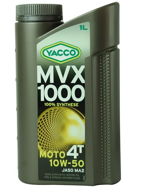Масло Yacco MVX 1000 4T 10W50, для мотоциклов с 4-тактным двигателем, 1 л332225MVX 1000 4T 10W-50 100% синтетическое масло для мотоциклов с 4-тактным двигателем ПРИМЕНЕНИЕ Особенно рекомендуется для мотоциклов класса «Супер спорт», оснащенных новейшими технологическими решениями для всех условий эксплуатации, включая экстремальные условия, в том числе соревнования в любое время года. Применяется также для смазки встроенных коробок передач, обеспечивая усиленную защиту узла «коробка/сцепление» (одобрение JASO MA2). Защищает характеристики двигателя в экстремальных условиях эксплуатации и в дальних поездках на большой скорости. Значительно превосходит требования ведущих производителей мотоциклов. ПРЕИМУЩЕСТВА • Особый состав и вязкость SAE 10W-50 обеспечивают хорошую устойчивость в высокотемпературных режимах и оптимальную и быструю смазку при запуске двигателя • В масле используются присадки, позволяющие поддерживать вязкость на необходимом уровне • Высокая устойчивость к деформации сдвига при эксплуатации • Отличные моющие и диспергирующие свойства •...