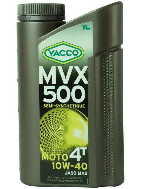 Масло Yacco MVX 500 4T 10W40, для мотоциклов с 4-тактными двигателями, 1 л332425MVX 500 4T 10W-40 Полусинтетическое масло для мотоциклов с 4-тактными двигателями ПРИМЕНЕНИЕ Высокоэффективная смазка двигателя в любых условиях эксплуатации, включая самые экстремальные условия, и в любое время года. Смазка также встроенных коробок передач, обеспечивая надлежащую защиту узла «коробка/сцепление» (допуски и одобрения JASO MA2). Подходит для всех типов мотоциклов (родстеры, дорожные мотоциклы, мотоциклы индивидуальной переделки, мотоциклы GT или спортивные мотоциклы). ПРЕИМУЩЕСТВА • Быстрая смазка при запуске двигателя • Отличные моющие и диспергирующие свойства • Адаптированные фрикционные свойства обеспечивают надлежащую работу сцепления • Высокоэффективная защита двигателя и коробки передач от износа • Поддержание первоначальных характеристик двигателя с обеспечением оптимальной защиты от образования осаждений • Снижение загрязняющих окружающую среду выбросов и экономия топлива СПЕЦИФИКАЦИИ И ОДОРЕНИ MVX 500 4T 10W-40 официально одобрено: JASO MA2 MVX...