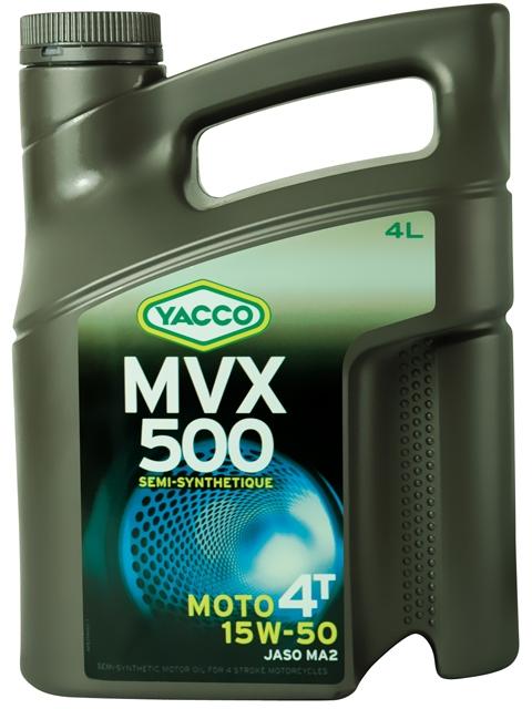 Масло Yacco MVX 500 4T 15W50, для мотоциклов с 4-тактными двигателями, 4 л332528MVX 500 4T 15W-50 Полусинтетическое масло для мотоциклов с 4-тактными двигателями ПРИМЕНЕНИЕ Высокоэффективная смазка двигателя в любых условиях эксплуатации, включая самые экстремальные условия, и в любое время года. Смазка также встроенных коробок передач, обеспечивая надлежащую защиту узла «коробка/сцепление» (допуски и одобрения JASO MA2) Подходит для всех типов мотоциклов (родстеры, дорожные мотоциклы, мотоциклы индивидуальной переделки, мотоциклы GT или спортивные мотоциклы). ПРЕИМУЩЕСТВА • Класс вязкости 15W-50 обеспечивает оптимальную смазку при высоких температурах для безотказной работы мотора в высокотемпературных режимах • Отличные моющие и диспергирующие свойства. • Высокие фрикционные свойства позволяют избегать «проскальзывания сцепления». • Высокоэффективная защита двигателя и коробки передач от износа. • Поддержание двигателей в чистом состоянии, что способствует удалению загрязняющих веществ при сливе масла. • Низкая летучесть позволяет уменьшить расход...