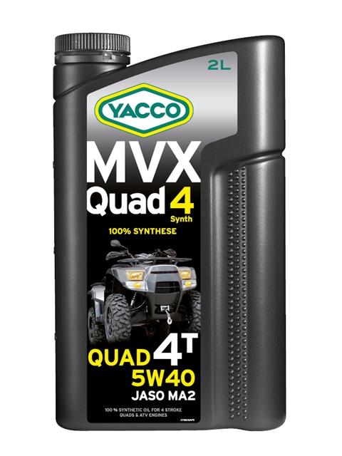 Масло Yacco MVX QUAD 5W40, для квадроциклов с 4-тактным двигателем, 2 л334024MVX QUAD 4 SYNTH 5W-40 100% синтетическое масло для квадроциклов с 4-тактным двигателем ПРИМЕНЕНИЕ Особо рекомендуется для квадроциклов, оснащенных новейшими технологическими решениями для наиболее жестких условий эксплуатации и всесезонного использования. Применяется также для смазки встроенных коробок передач, обеспечивая усиленную защиту узла «коробка/сцепление» (одобрение JASO MA2).Подходит для любого применения (спортивные, профессиональные квадроциклы или для отдыха). Значительно превышает технические требования ведущих производителей квадроциклов. ТИПИЧНЫЕ ПОКАЗАТЕЛИ Единицы измерения 5W-4 Плотность при 20°C кг/м3 860 Вязкость кинематическая при 40°C мм2/с 91.7 Вязкость кинематическая при 100°C мм2/с 15.2 Индекс вязкости 176 Температура застывания °C - 39 Температура вспышки (PMCC) °C > 210 Динамическая вязкость при - 30°C мПА*с (сП) 6200 Приведенные в таблице данные основаны на тестах в лабораторных условиях и предоставляются только как справочные. ПРЕИМУЩЕСТВА • Состав...
