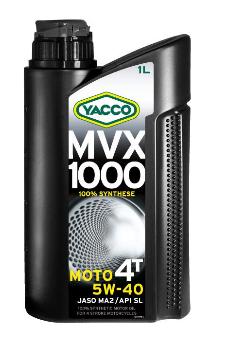 Масло моторное Yacco MVX 1000 4T 5W40, 1 л334225MVX 1000 4T 5W-40 100% синтетическое масло для мотоциклов с 4-тактным двигателем ПРИМЕНЕНИЕ 100% синтетическое масло для мотоциклов с 4-тактовыии двигателем, разработанное и изготовленное по последним современным технологиям. Защищает характеристики двигателя в экстремальных условиях эксплуатации и в дальних поездках на большой скорости; оно значительно превосходит требования ведущих производителей мотоциклов. Это масло рекомендуется, когда производитель требует применения моторного масла вязкостью 5W-40 (например, BMW, Piaggio). ПРЕИМУЩЕСТВА • Коэффициенты трения соответствуют требованиям JASO MA2 и позволяют избежать проскальзывания сцепления и обеспечивают усиленную защиту узла «коробка/сцепление». • 100% синтетический состав масла для оптимальной защиты в высокотемпературных режимах • Класс вязкости SAE 5W-40 обеспечивает быструю смазку при запуске двигателя и сохранение качеств масла в высокотемпературных режимах • Эффективные присадки улучшают индекс вязкости, очень устойчивы...