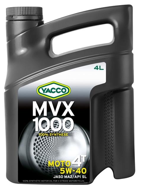 Масло Yacco MVX 1000 4T 5W40, для мотоциклов с 4-тактным двигателем, 4 л334228MVX 1000 4T 5W-40 100% синтетическое масло для мотоциклов с 4-тактным двигателем ПРИМЕНЕНИЕ 100% синтетическое масло для мотоциклов с 4-тактовыии двигателем, разработанное и изготовленное по последним современным технологиям. Защищает характеристики двигателя в экстремальных условиях эксплуатации и в дальних поездках на большой скорости; оно значительно превосходит требования ведущих производителей мотоциклов. Это масло рекомендуется, когда производитель требует применения моторного масла вязкостью 5W-40 (например, BMW, Piaggio). ПРЕИМУЩЕСТВА • Коэффициенты трения соответствуют требованиям JASO MA2 и позволяют избежать проскальзывания сцепления и обеспечивают усиленную защиту узла «коробка/сцепление». • 100% синтетический состав масла для оптимальной защиты в высокотемпературных режимах • Класс вязкости SAE 5W-40 обеспечивает быструю смазку при запуске двигателя и сохранение качеств масла в высокотемпературных режимах • Эффективные присадки улучшают индекс вязкости, очень устойчивы...