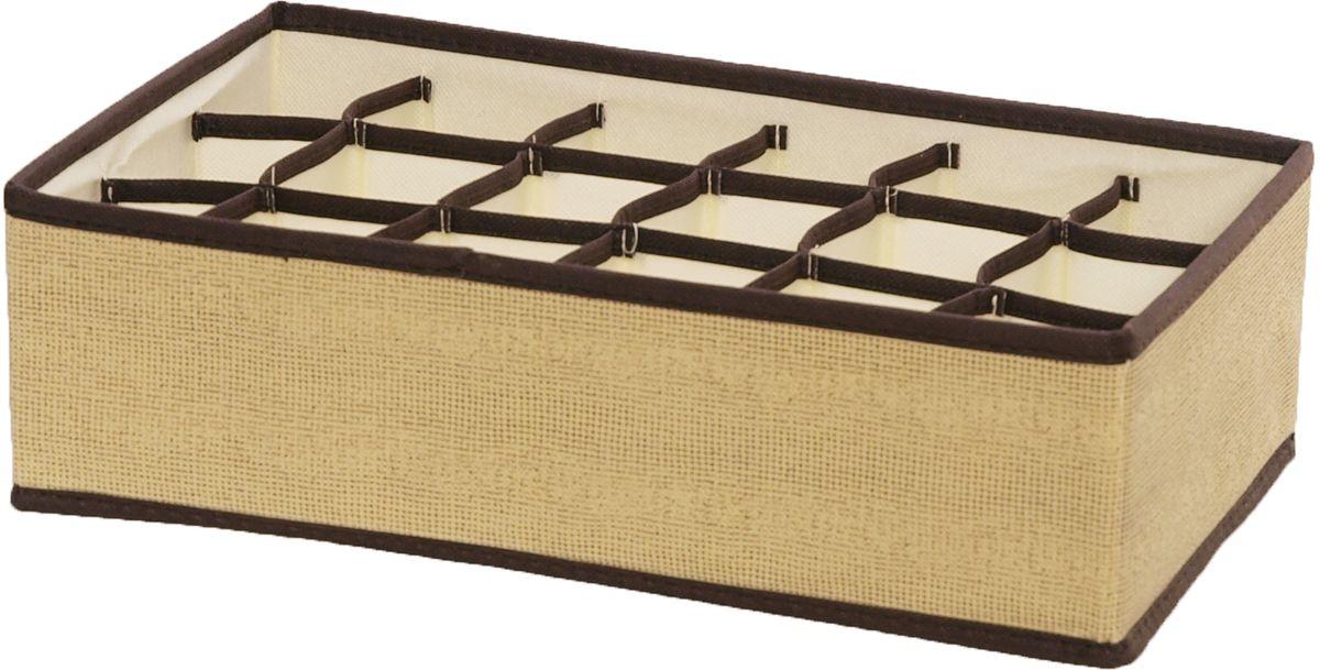Органайзер HomeMaster, 18 ячеекSTI001Органайзер на 18 ячеек предназначен для хранения аксессуаров и нижнего белья. Он обеспечит бережное хранение вещей и позволит организовать внутреннее пространство вашего дома. Теперь вы быстро найдете необходимую вещь. Органайзер можно расположить, как на полке, так и в выдвижном ящике вашего шкафа.