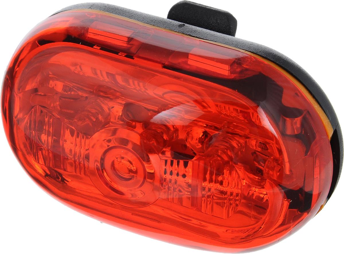 Фонарь велосипедный D-Light CG-404RG, габаритный, задний, цвет: черный, красныйCG-404RV1Задний габаритный фонарь D-Light CG-404RG предназначен для обеспечения большей безопасности при поездках в темное время суток. Работает от 2 батареек типа ААА (входят в комплект). Водонепроницаемый корпус выполнен из прочного пластика. Имеет 4 режима работы: простое свечение, мигание, Random и Chasing. Chasing это режим, при котором лампочки загораются последовательно. При режиме Random лампочки мигают произвольно. Время работы в режиме обычного свечения: 70 ч. Время работы в режиме мигания: 160 ч. Время работы в режиме Random: 250 ч. Время работы в режиме Chasing: 250 ч. Размер фонаря (без учета креплений): 6,3 х 3,5 х 2 см.