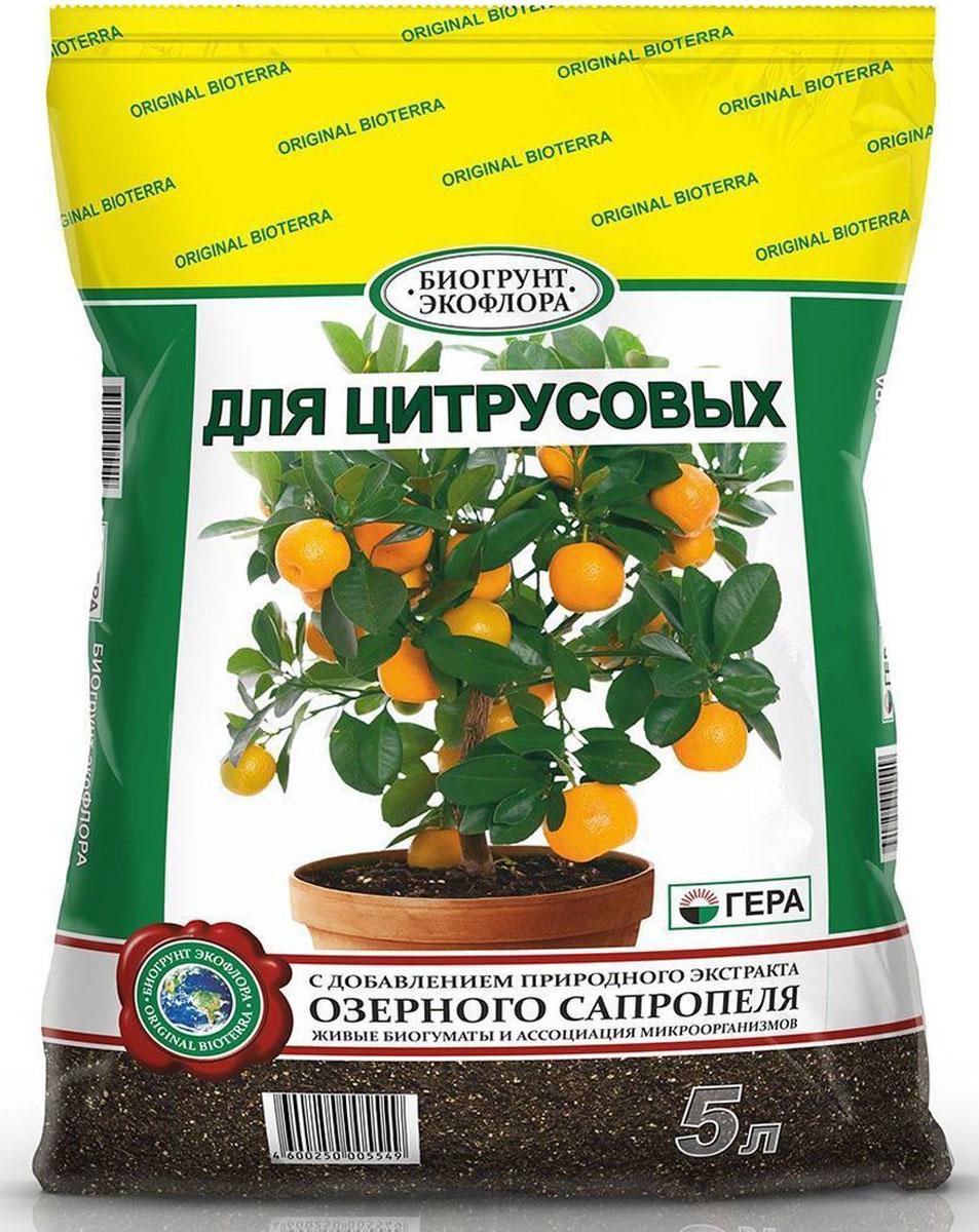 Биогрунт Гера Для цитрусовых, 5 л1042Полностью готовый к применению грунт для выращивания в зимнем саду и комнатном цветоводствецитрусовых растений, таких, как лимон, апельсин, мандарин, цитрон, лайм, грейпфрут, кумкват, помело и др.; проращивания семян; подсыпки при оголении корней, усадке грунта; в качестве подкормки. Состав: смесь торфов различной степени разложения, сапропель, песок речной термически обработанный, гумат калия, комплексное минеральное удобрение, вермикулит/агроперлит, мука известняковая (доломитовая).