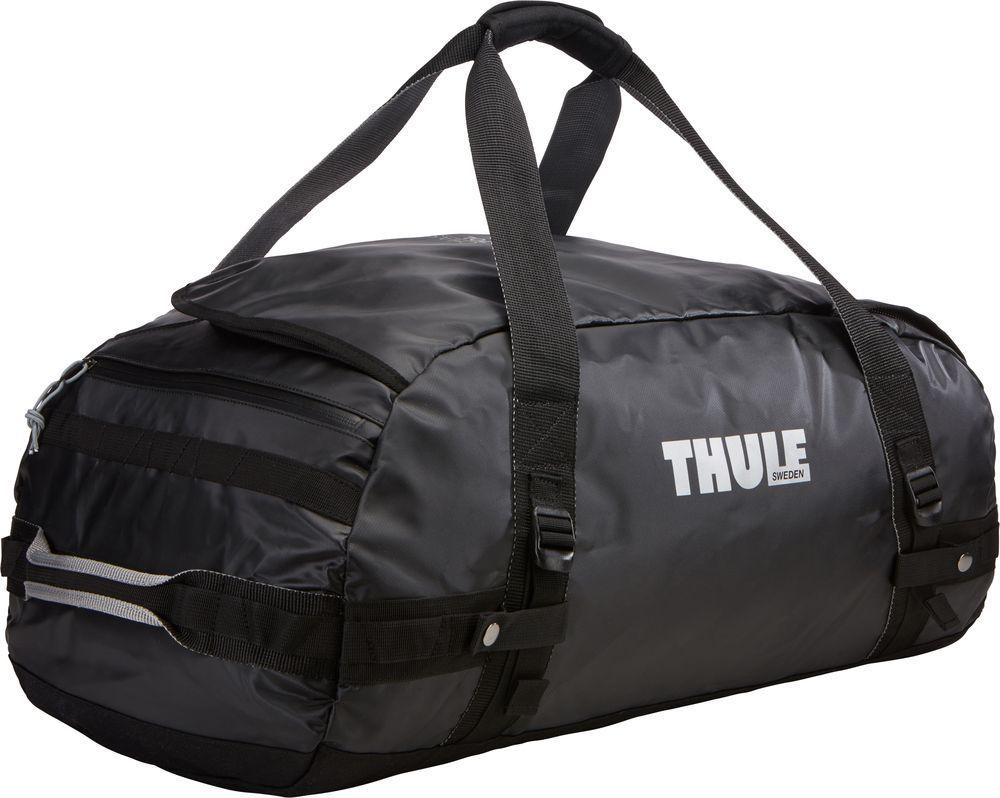 Спортивная сумка-баул Thule Chasm, цвет: черный, 70 л. Размер M221201Thule Chasm Medium - Эти жесткие, устойчивые к неблагоприятным погодным условиям сумки с широко раскрывающимся основным отделением и съемными ремнями — ваши надежные спутники в любой поездке.
