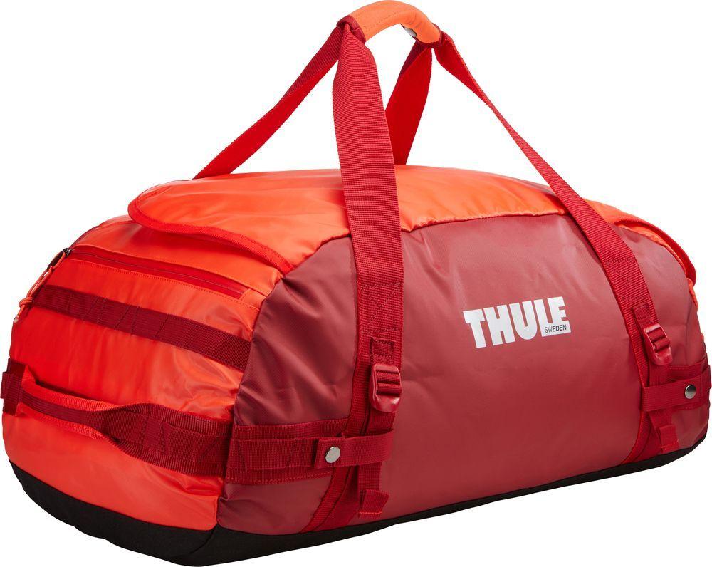 Спортивная сумка-баул Thule Chasm, цвет: ярко-оранжевый, 70 л. Размер M221203Thule Chasm Medium - Эти жесткие, устойчивые к неблагоприятным погодным условиям сумки с широко раскрывающимся основным отделением и съемными ремнями — ваши надежные спутники в любой поездке.
