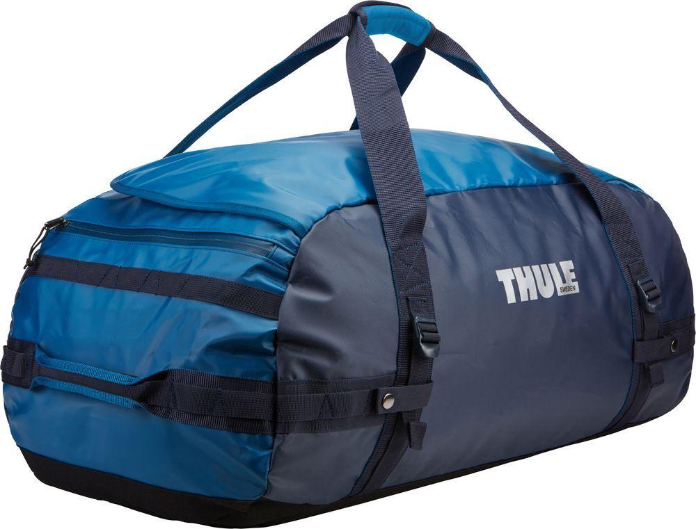 Спортивная сумка-баул Thule Chasm, цвет: синий, 90 л. Размер L221302Thule Chasm Large - Эти жесткие, устойчивые к неблагоприятным погодным условиям сумки с широко раскрывающимся основным отделением и съемными ремнями — ваши надежные спутники в любой поездке.