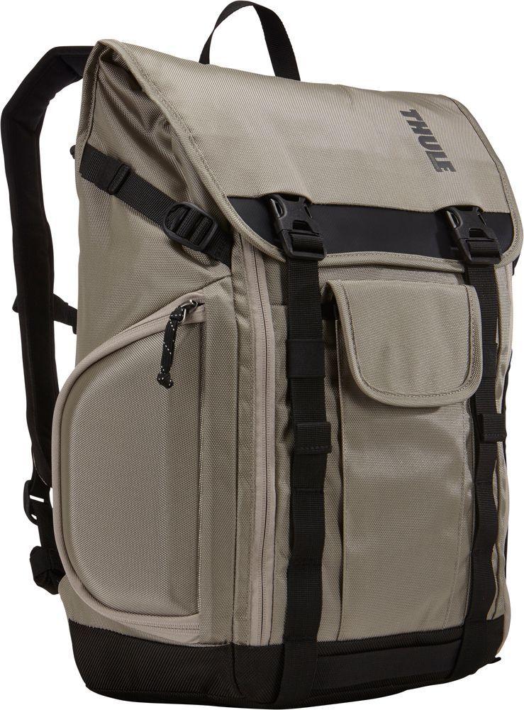 Рюкзак городской Thule Subterra Backpack, цвет: песочный, 153203209Рюкзак Thule Subterra - Рюкзак, подходящий для поездок на работу, позволяет увеличивать объем, а также отличается наличием отделений с быстрым доступом. Имеется специальная защита для MacBook с диагональю экрана 15; и планшета (или iPad) с диагональю экрана 10,1