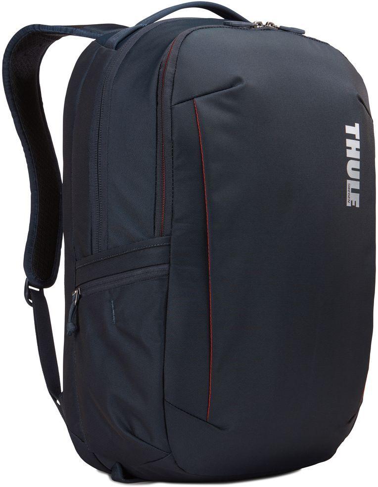 Рюкзак городской Thule Subterra Backpack, цвет: темно-синий, 30 л3203418Вместительный и прочный дорожный рюкзак с функцией защиты электроники и отделением PowerPocket для упорядоченного хранения шнуров и зарядных устройств.