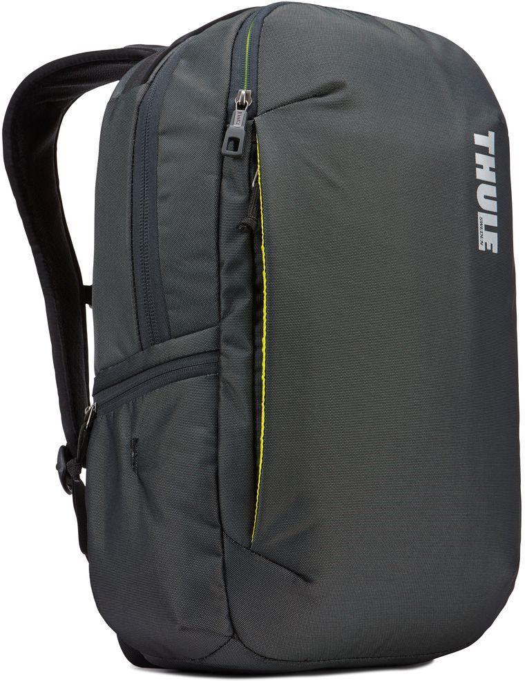 Рюкзак городской Thule Subterra Backpack, цвет: темно-серый, 23 л3203437Стильный дорожный рюкзак с защитой электронных устройств и отделением PowerPocket для упорядоченного хранения шнуров и зарядных устройств.