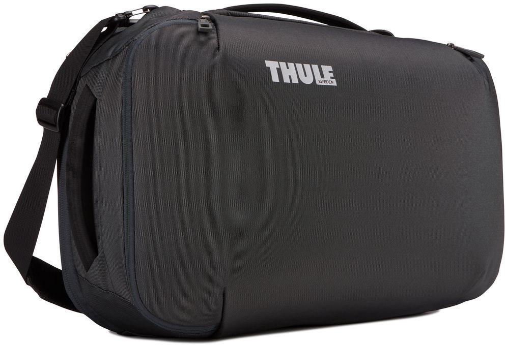 Сумка дорожная Thule Subterra Carry-On, цвет: темно-серый, 40 л3203443Универсальный мягкий чемодан отличается исключительной вместимостью. Имеет встроенный чехол для ноутбука, который очень пригодится в поездке.