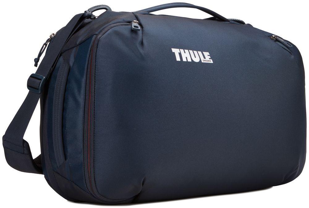 Сумка дорожная Thule Subterra Carry-On, цвет: темно-синий, 40 л3203444Универсальный мягкий чемодан отличается исключительной вместимостью. Имеет встроенный чехол для ноутбука, который очень пригодится в поездке.