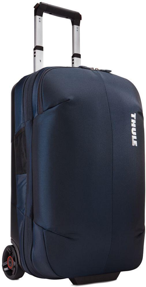 Сумка дорожная Thule Subterra Rolling, цвет: темно-синий, 36 л3203447Стильный и надежный чемодан на двух колесах с прижимной панелью, которая позволяет увеличить пространство, уплотняя сложенную одежду, но не сминая ее.