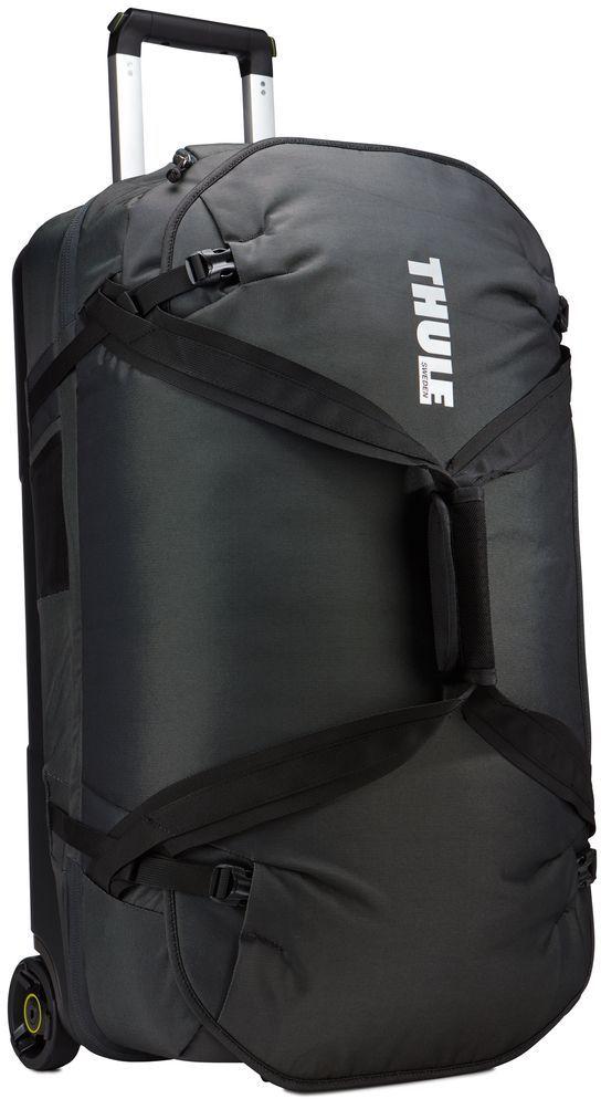 Сумка дорожная Thule Subterra Luggage, цвет: темно-серый, 75 л3203451Вместительная сумка на колесах с широким основным отделением, разделенным на два отсека, позволяет легко упаковать и распределить туристические принадлежности.