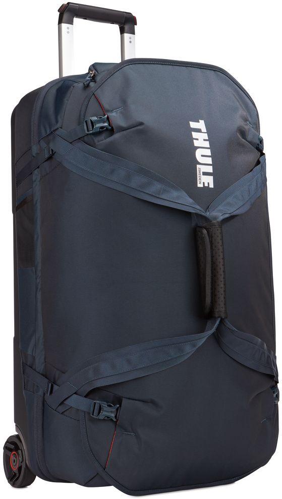 Сумка дорожная Thule Subterra Luggage, цвет: темно-синий, 75 л3203452Вместительная сумка на колесах с широким основным отделением, разделенным на два отсека, позволяет легко упаковать и распределить туристические принадлежности.