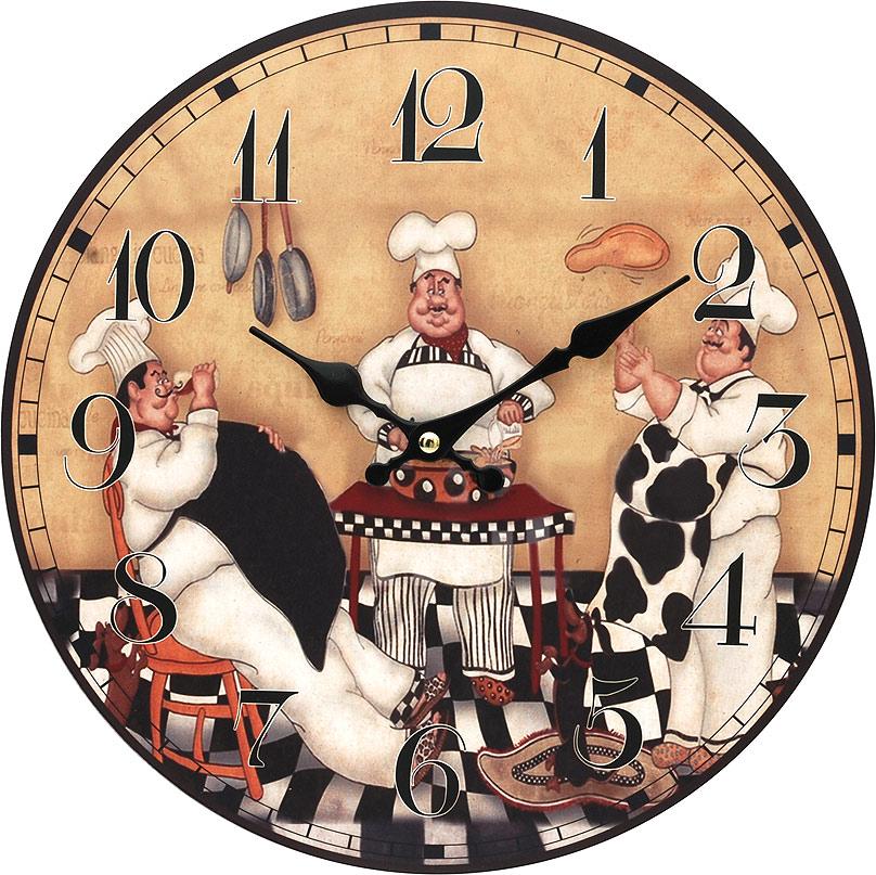 Часы настенные Белоснежка Время печь пироги, диаметр 34 см114-CLЦиферблат: открытый, выполнен из листа оргалита с декоративным покрытием. Стрелки металлические – часовая и минутная. Часовой механизм закрыт пластиковым корпусом. Питание от одного элемента питания стандарта АА. Отверстие для крепления часов на стену. Диаметр 34 см.