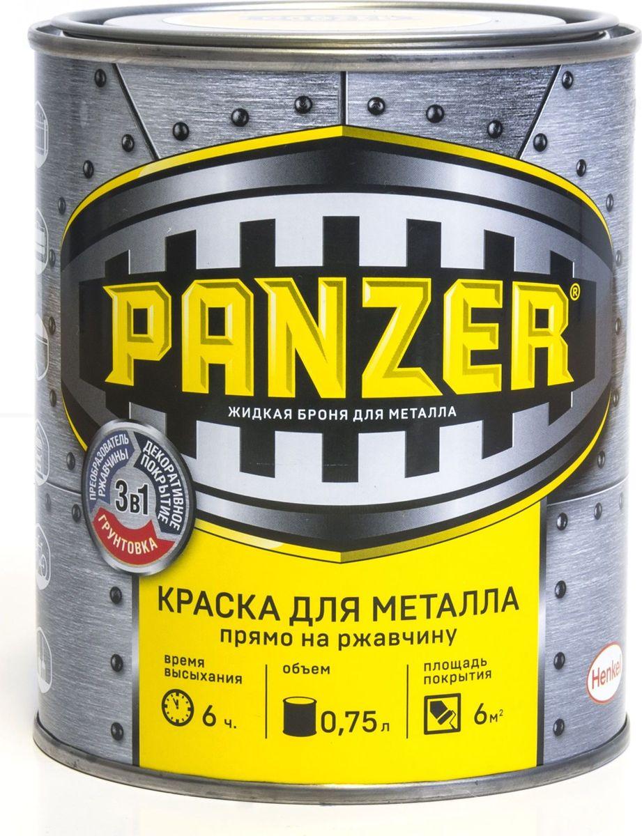 """Краска эмалевая гладкая для металла """"Panzer"""", цвет: белый (9017), 0,75 л TBVPAG029016B"""
