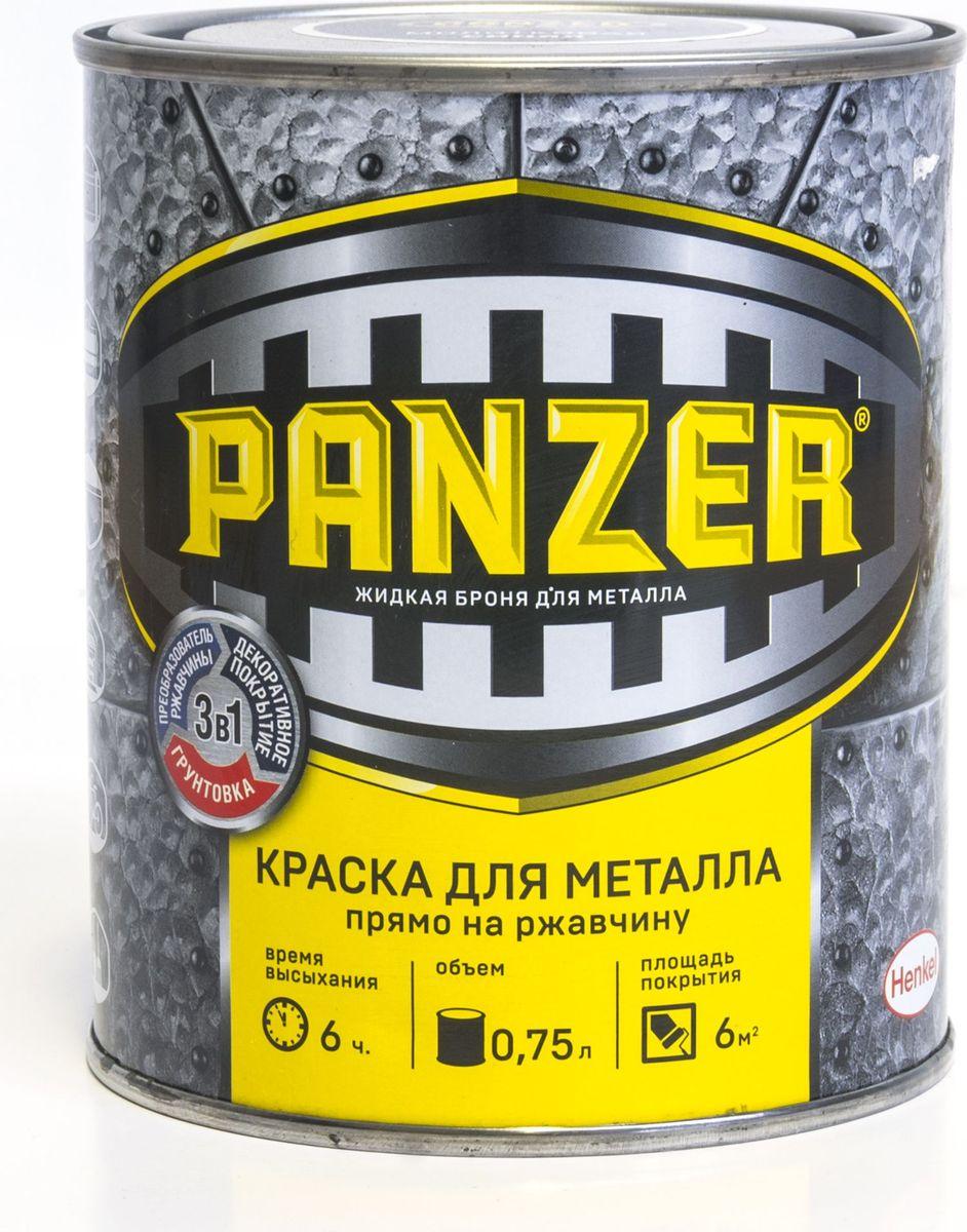 "Краска эмалевая молотковая для металла ""Panzer"", цвет: черный (9005), 0,75 л TBVPAM029005B"