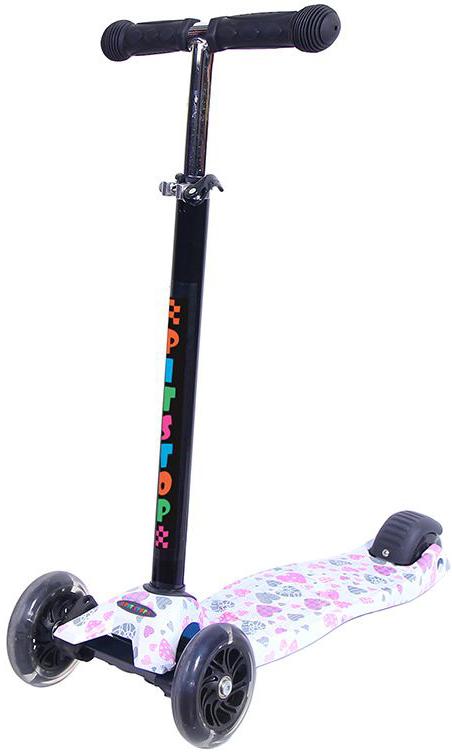 Самокат трехколесный Pit Stop Сердечки, цвет: розовый. PS-HDL719BY1PS-HDL719BY1Самокат Pit Stop трехколесный. Цветной. Регулируется по высоте. Светятся колеса. Диаметр переднего колеса (2шт.): 120мм. Диаметр заднего колеса: 80мм. Материал колес: полиуретан. Размер платформы: 40х13см. Минимальная высота: 67см. Максимальная высота: 90см. Максимальный вес нагрузки: до 60кг. Подшипники: ABEC-7. Материал ручек: резина. Вес: 2,4кг. Возраст: 3+