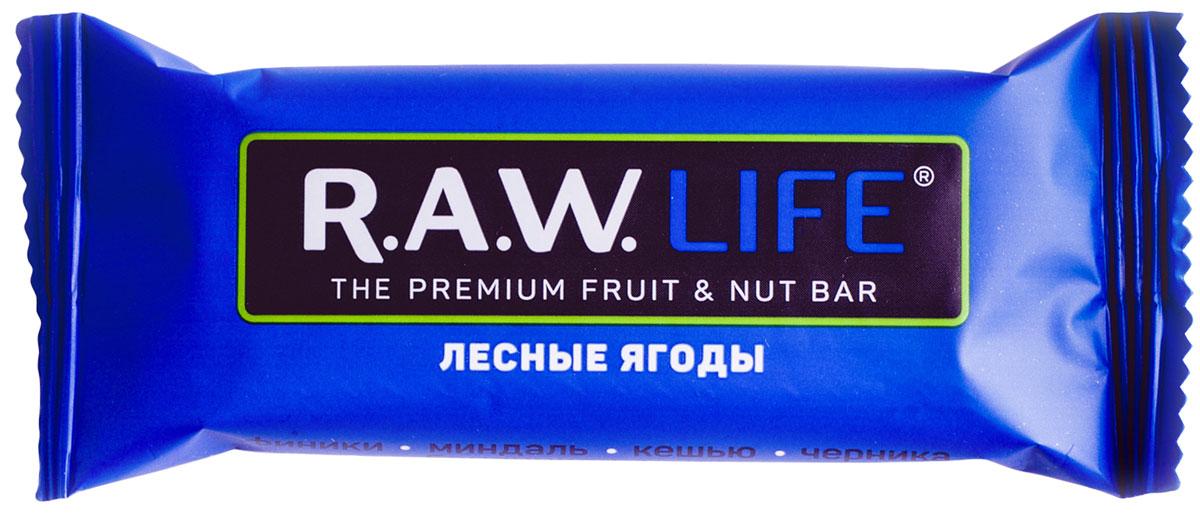 R.A.W.LIFE Лесные-Ягоды орехово-фруктовый батончик, 47 г