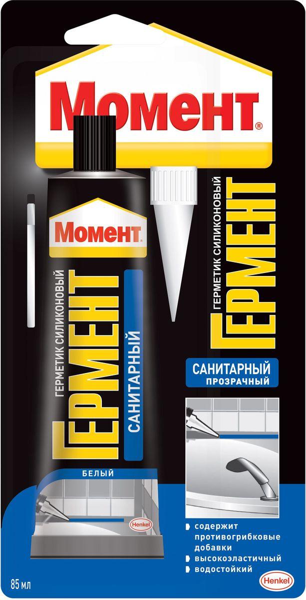 """Герметик силиконовый """"Момент Гермент"""", санитарный, цвет: прозрачный, 85 мл 1374339"""