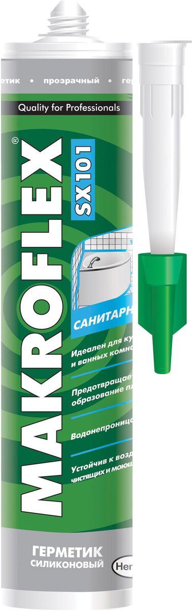 """Герметик силиконовый Makroflex """"SX101"""", санитарный, цвет: прозрачный, 290 мл 2005221"""