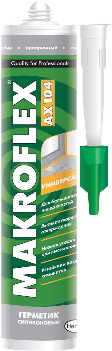 """Герметик силиконовый Makroflex """"АX104"""", универсальный, цвет: белый, 290 мл 2005220"""