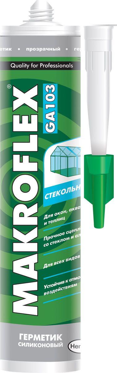 """Герметик силиконовый Makroflex """"GA103"""", стекольный, цвет: белый, 300 мл 2005224"""