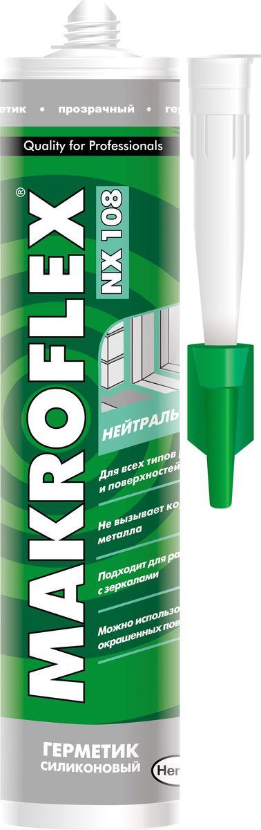 """Герметик силиконовый Makroflex """"NX108"""", нейтральный, цвет: прозрачный, 290 мл 2005216"""