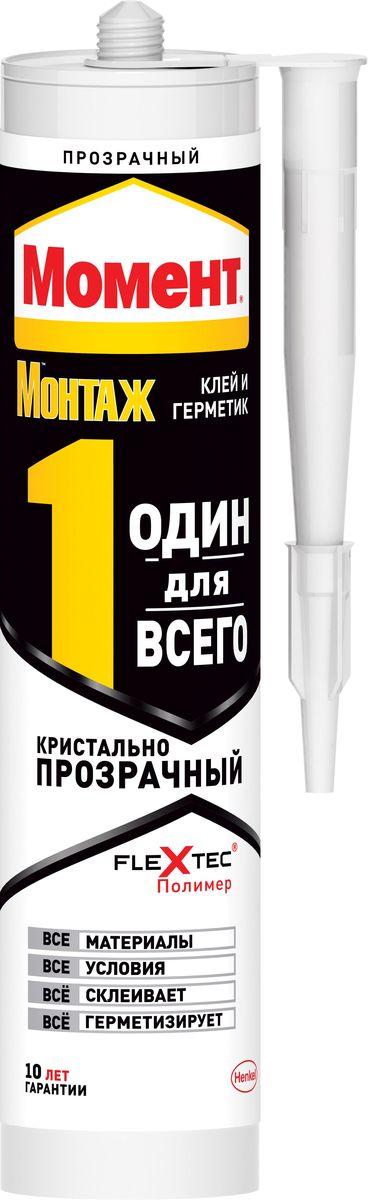 """Клей-герметик Момент """"Монтаж. Один для всего"""", цвет: прозрачный, 290 г 2000685"""