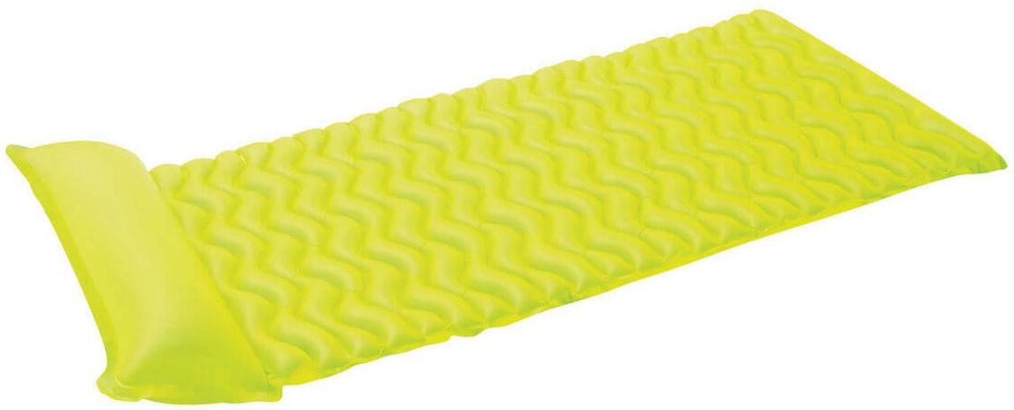 Надувной матрас Intex Тот-Н-Флот, цвет: зеленый, 229 х 86 см. с58807с58807Размер: 229х86 см Насос: да Вес: 1,293 кг Материал: ПВХ пленка