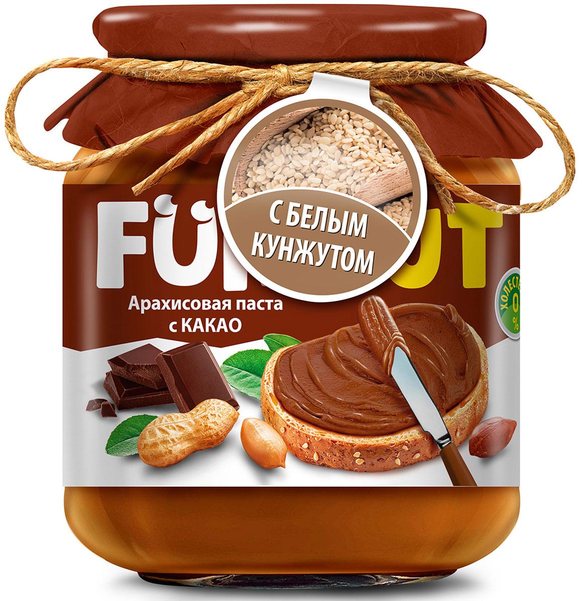 Funnat Арахисовая паста с какао с добавлением кунжута, 340 г