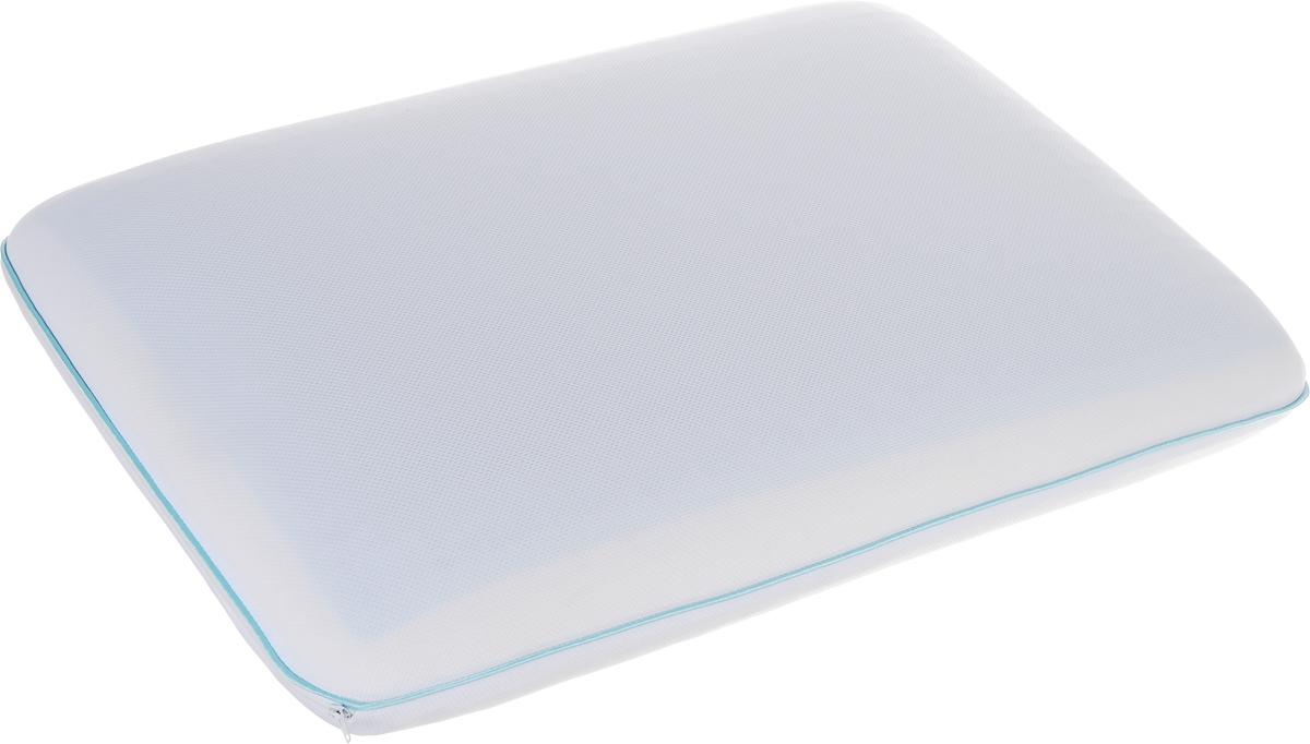 Подушка Аскона Ergogel Classic, наполнитель: Memory Foam, Ecogel, 60 x 40 см00-00001161Подушка с охлаждающим эффектом Аскона Ergogel Classic. Охлаждающий эффект подушки помогает глубокому сну и лучшей работоспособности мозга в течение дня. Специальная технология распределяет тепло по всей поверхности подушки, обеспечивая приятное чувство прохлады. Подушка также сочетает в себе эффект памяти, благодаря чему принимает контуры тела и не требует привыкания. Чехол подушки изготовлен из трикотажа. Наполнитель - Memory Foam и Ecogel. Слой Ecogel располагается на одной стороне подушки, с обратной стороны - Memory Foam. Подушка анатомической формы понравится тем, кто любит спать на боку и на спине. Свойства: - охлаждающий эффект во время сна; - правильная поддержка головы и шеи; - обладает микромассажным эффектом; - подстраивается под форму тела; - экологичные материалы. Подушка упакована в дополнительный чехол из полиэстера, который застегивается на молнию.