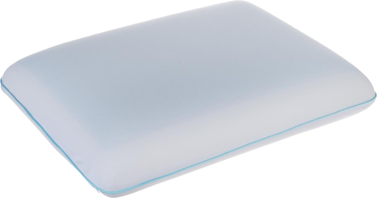 Подушка Аскона Ecogel Classic Blue, наполнитель: Memory Foam, Ecogel, 60 x 40 см00-00001158Подушка с охлаждающим эффектом Аскона Ecogel Classic Blue. Охлаждающий эффект подушки помогает глубокому сну и лучшей работоспособности мозга в течение дня. Специальная технология распределяет тепло по всей поверхности подушки, обеспечивая приятное чувство прохлады. Подушка также сочетает в себе эффект памяти, благодаря чему принимает контуры тела и не требует привыкания. Чехол подушки изготовлен из трикотажа. Наполнитель - Memory Foam и Ecogel. Слой Ecogel располагается на одной стороне подушек, с обратной стороны - Memory Foam. Подушка анатомической формы понравится тем кто любит спать на боку и на спине. Свойства: - охлаждающий эффект во время сна; - правильная поддержка головы и шеи; - обладает микромассажным эффектом; - подстраивается под форму тела; - экологичные материалы. Подушка упакована в дополнительный чехол из полиэстера, который застегивается на молнию.