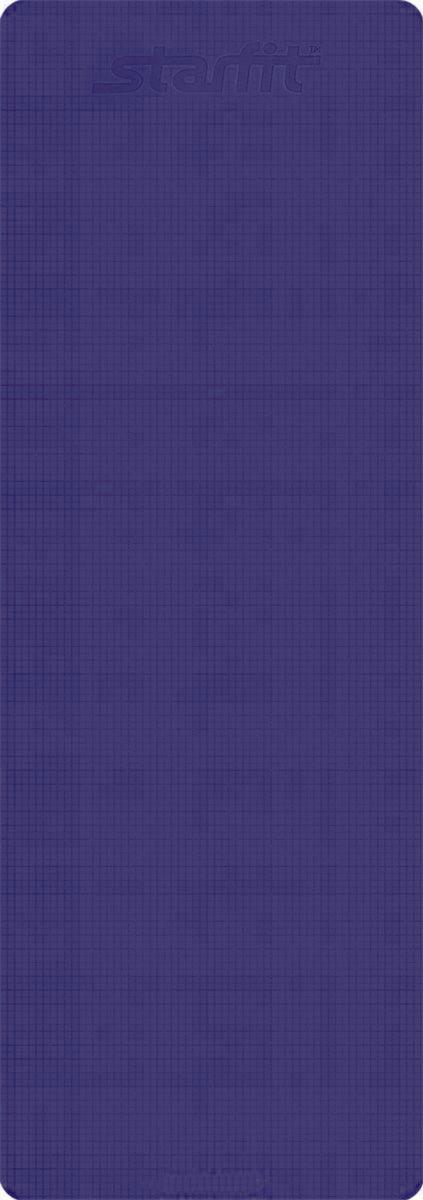 Коврик для йоги Starfit FM-101, цвет: фиолетовый, 173 х 61 х 0,3 смУТ-00008829_фиолетовыйКоврик для йоги Star Fit FM-101 - это незаменимый аксессуар для любого спортсмена как во время тренировки, так и во время пре-стретчинга (растяжки до тренировки) и стретчинга (растяжки после тренировки). Выполнен из высококачественного ПВХ. Коврик используется в фитнесе, йоге, функциональном тренинге. Его используют спортсмены различных видов спорта в своем тренировочном процессе. Предпочтительно использовать без обуви. Если в обуви, то с мягкой подошвой, чтобы избежать разрыва поверхности коврика.