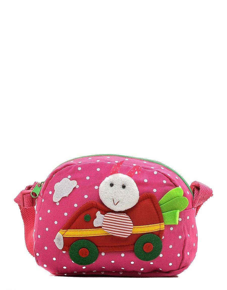 Сумка детская Vitacci, цвет: розовый. 24013-1124013-11Детская стильная сумочка Vitacci выполнена из качественного текстиля. Сумка имеет одно вместительное отделение и застегивается на застежку-молнию. Внутри модель имеет один накладной открытый кармашек. Спереди сумка оформлена интересной декорацией из текстиля. Сумка оснащена съемным наплечным ремнем, который регулируется по длине.