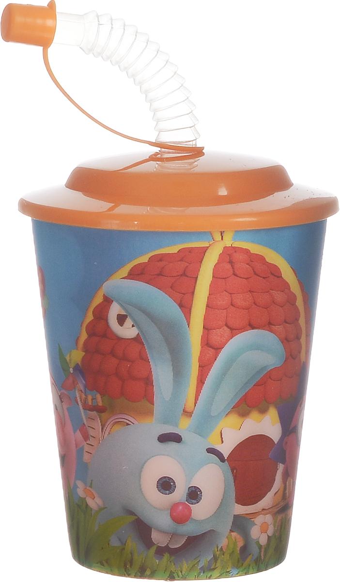 Смешарики Стакан детский с крышкой и трубочкой 400 млSMT400-01Детский стакан Смешарики непременно станет любимым стаканчиком малыша. Стакан выполнен из прочного безопасного полипропилена и оформлен изображением героев мультсериала Смешарики. Благодаря безопасному материалу, стакан подойдет для любых напитков. Стакан имеет съемную крышку, оснащенную отверстием для широкой трубочки для питья. Трубочка дополнена клапаном на конце, позволяющим прикрыть ее и избежать попадания пыли и грязи. Объем стакана: 400 мл. Не подходит для использования в посудомоечной машине и СВЧ-печи.