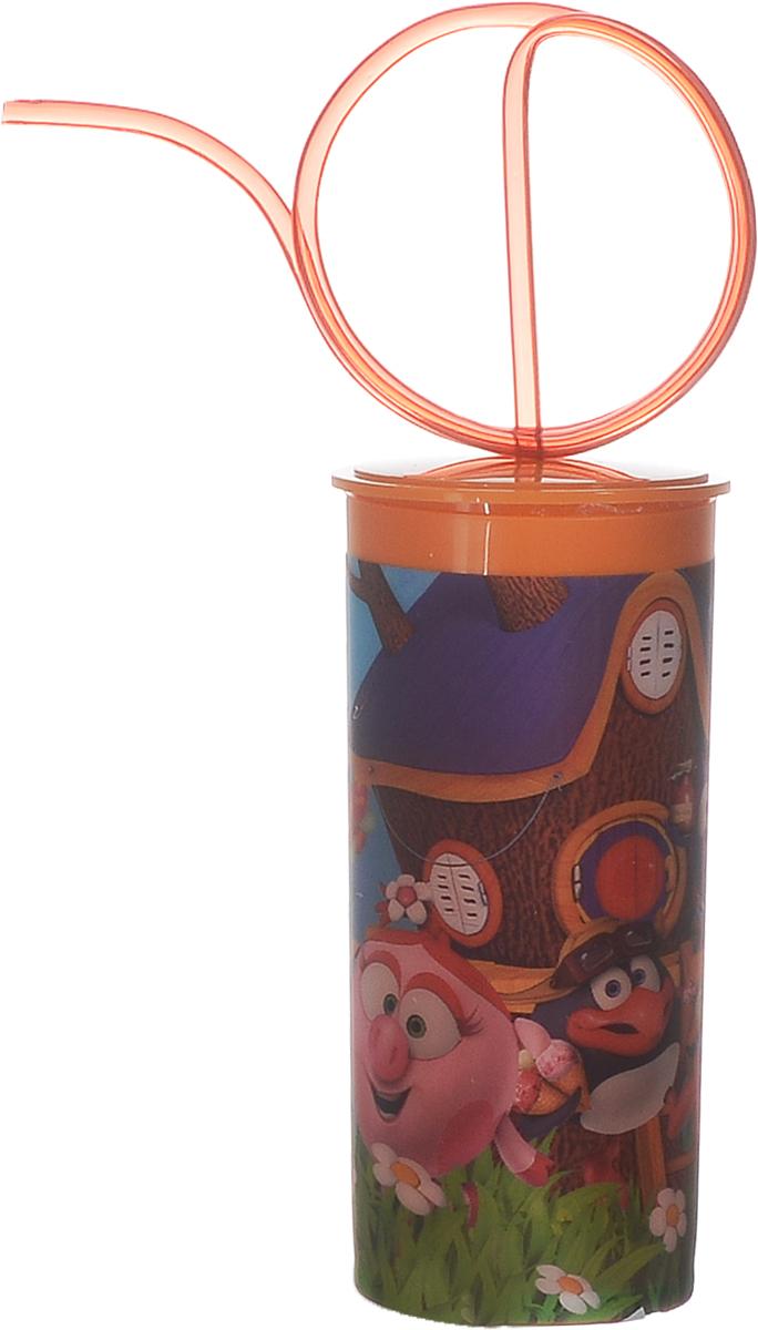 Смешарики Стакан детский с крышкой и трубочкой 330 млSMT330-01Детский стакан Смешарики непременно станет любимым стаканчиком малыша. Стакан выполнен из прочного безопасного полипропилена и оформлен изображением героев мультсериала Смешарики. Благодаря безопасному материалу, стакан подойдет для любых напитков. Стакан имеет съемную крышку, оснащенную отверстием для оригинальной витой трубочки для питья. Объем стакана: 330 мл. Не подходит для использования в посудомоечной машине и СВЧ-печи.