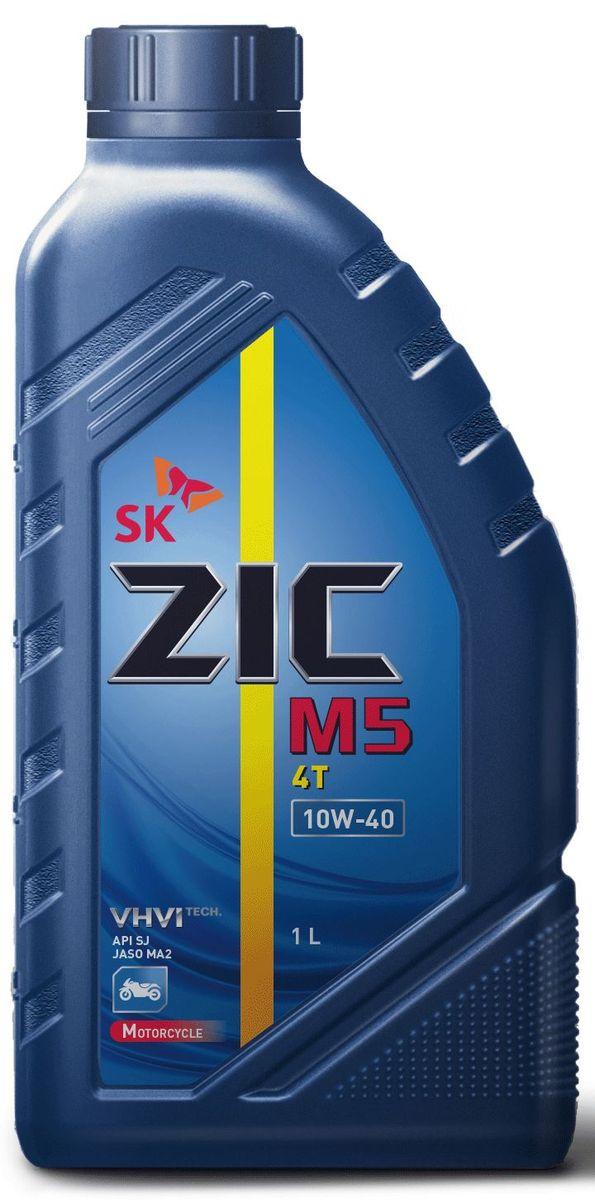 Масло моторное ZIC M5 4Т, полусинтетическое, класс вязкости 10W-40, API SJ, 1 л. 137212137212Полусинтетическое моторное масло ZIC M5 4Т предназначено для использования в 4-х тактных двигателях мотоциклетной техники. Гарантирует надежную работу двигателя и минимизацию отложений при любых условиях эксплуатации.