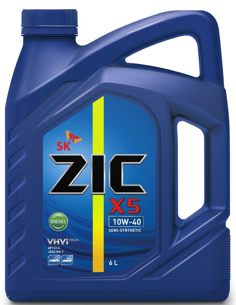 Масло моторное ZIC X5 Diesel, полусинтетическое, класс вязкости 10W-40, API CI-4, 6 л. 172660172660Всесезонное полусинтетическое моторное масло высшего качества ZIC X5 Diesel предназначено для дизельных двигателей малого и среднего объемов. Изготовлено на основе базового масла YUBASE и сбалансированного пакета современных присадок. Адаптировано к дизельному топливу российских стандартов. Плотность при 15°C: 0,8507 г/см3. Температура вспышки: 240°С. Температура застывания: -37,5°С.