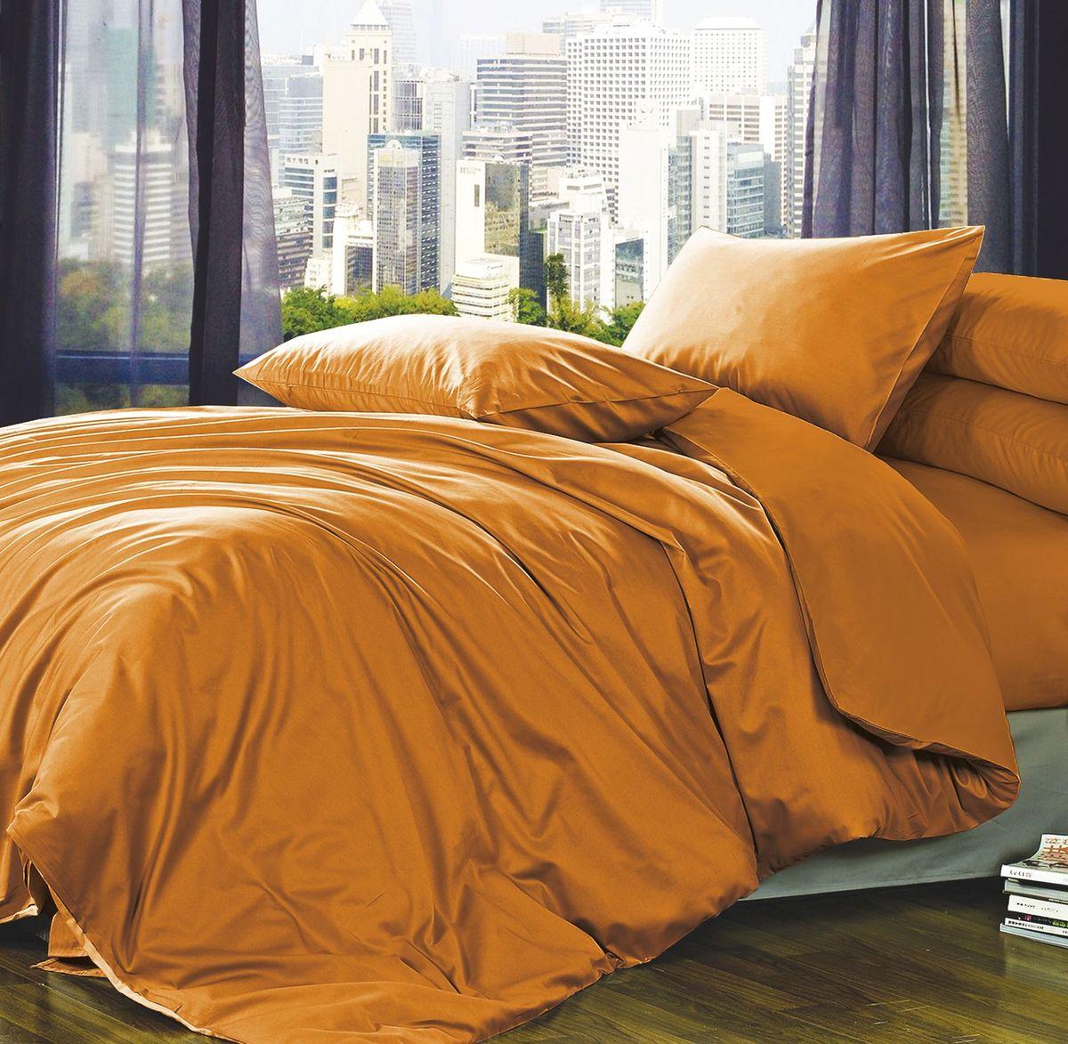 Комплект белья Коллекция Оранжевый, 1,5-спальный, наволочки 50x70. ПС1.5/50/ОЗ/орПС1.5/50/ОЗ/ор
